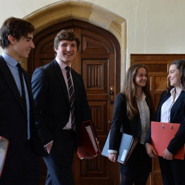 Girls enter Ampleforth Sixth Form