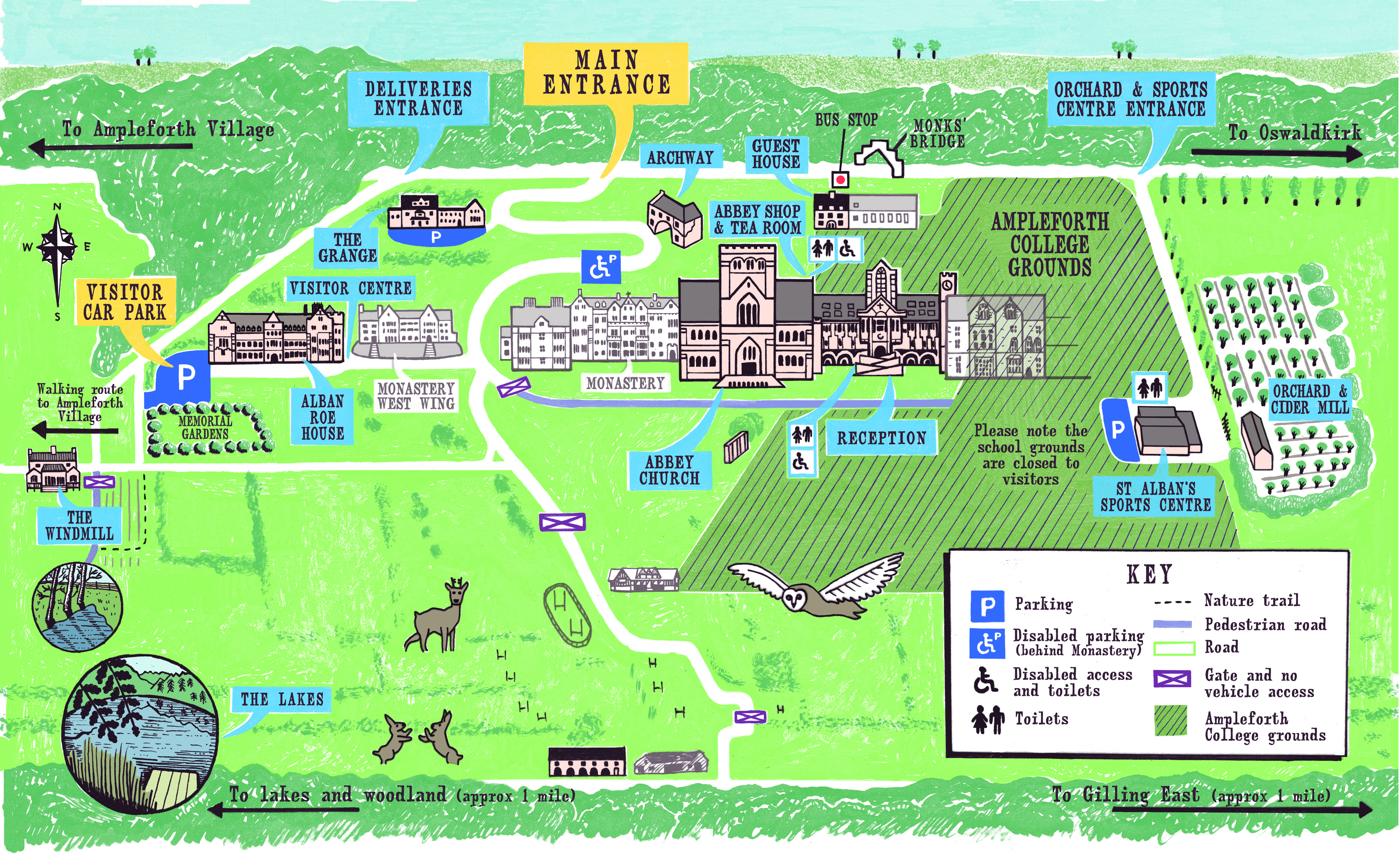 Ampleforth Campus Map