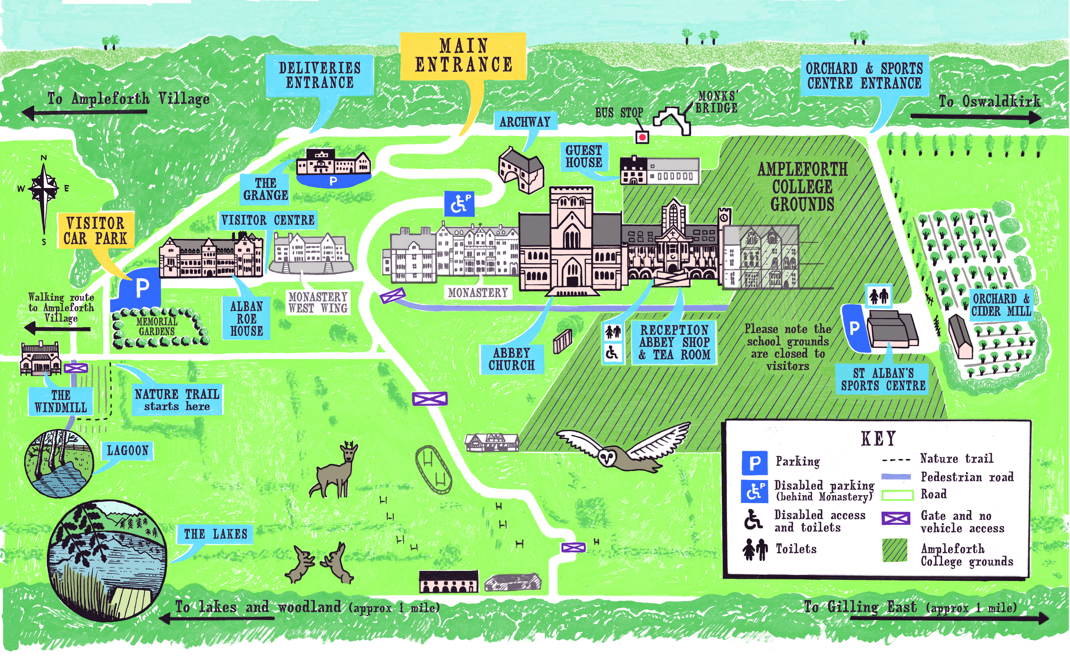 Ampleforth Map