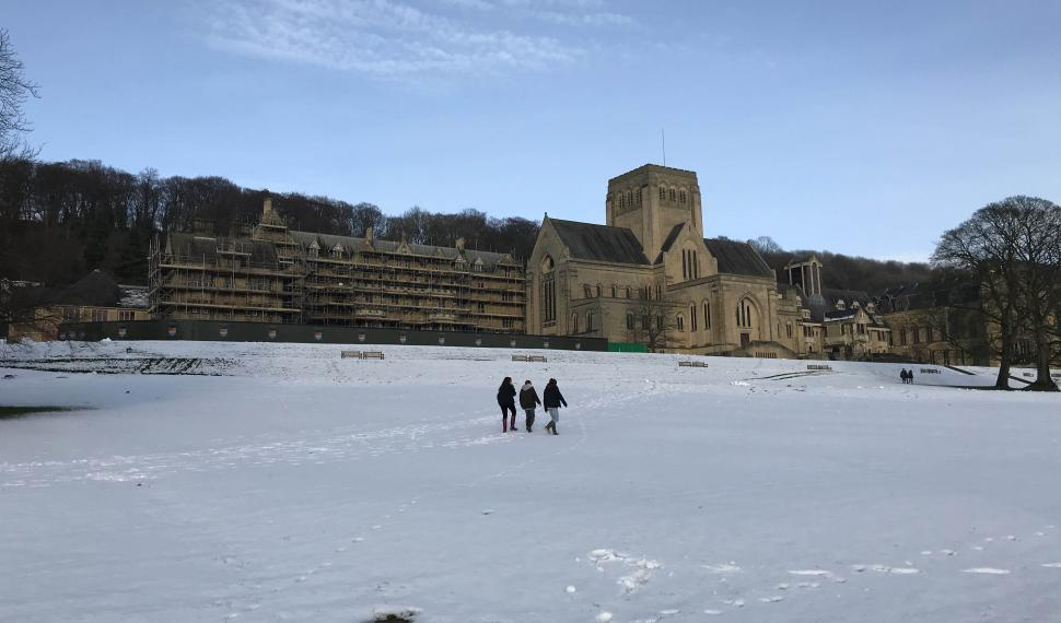 Ampleforth in snow
